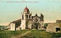DB Postcard CA K218 Carmel Mission Monterey County Cancel 1907 to England