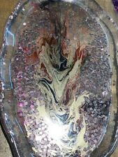 Handmade Resin Tray / Plate Gold