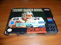Tecmo Super Bowl (Super Nintendo Entertainment System, 1993)  SNES COMPLETE