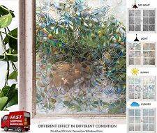 Static Window Vinyl Stained Glass Film Home Privacy Decorative Frosted Films New