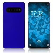 Hardcase Samsung Galaxy S10 rubberized blue Cover Case