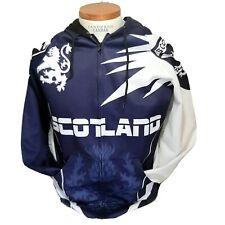 Scotland Lion Crest Hoodie Purple White Hooded Zip Sweatshirt Scottish Flag