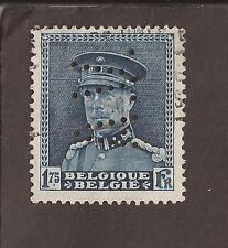 """Bélgica. 1931 Scott 231 (usado) Perfin """"V. A."""" 2 X Escanea"""