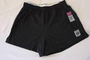 NEW Womens Jersey Shorts Size Medium Junior Fit Black Ladies Cotton Bottoms NWT