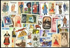 COSTUMES On Stamps-50 Different Large world Wide Mixed Thematic Used Stamps