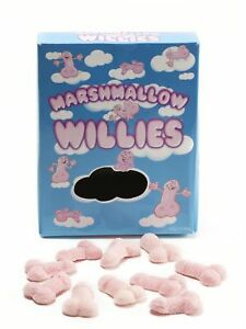 Marshmallow Willies Sweets Hen Stag Party Night Fun Birthday Rude Food Gag Gift
