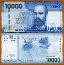 Chile, 10000 (10,000) Pesos, 2013 (2015), P-164-New, UNC