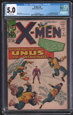 X-Men #8 11/64 CGC 5.0 Marvel 1st Appearance of Unus 042721DBCG