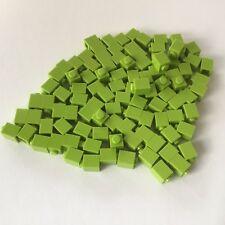 100 Lego Bausteine 1x1 hellgrün lime NEU 3005 Basic Steine Grundsteine