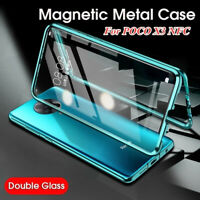 For Xiaomi POCO X3 NFC Mi 10T Lite 5G 360°Magnetic Double Sided Glass Cover Case