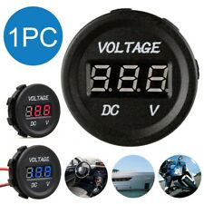 12V~24V Voltage Meter Car Marine Motorcycle LED Digital Voltmeter Battery Gauge