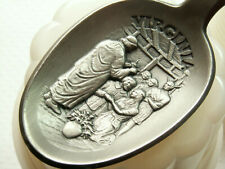 Franklin Mint Pewter Spoon Virginia Colony State