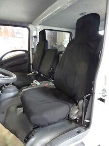 2006-2020 Isuzu NPR/GMC 2500 Work Truck Seat Covers in Black Twill 40/60 New