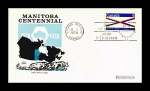 DR JIM STAMPS MANITOBA CENTENNIAL FIRST DAY ISSUE COLE COVER