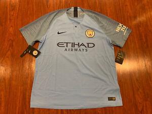 2018-19 Nike Vaporknit Manchester City Men's Home Soccer Jersey XL Authentic Ver
