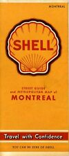 1941 Shell Road Map: Montreal NOS