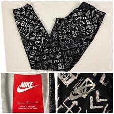 Nike Sportswear Girls Large Leggings Multicolor Rare Tech All Over Print EUC