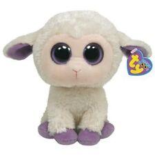 Clover Ty Beanie Boos - 6 inch beige lamb - MWMT - FREE SHIPPING