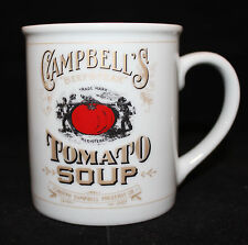 Campbell's Tomato Soup beefsteak 125th Anniversary White Gold Coffee Tea Mug Cup