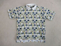 Tabasco Polo Shirt Adult Extra Large White Hot Sauce All Over Print Rugby Mens *