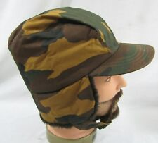 Vintage Tan Green Camo Medium Hat Ear Flaps 3M Thinsulate Hunting Cap Camouflage