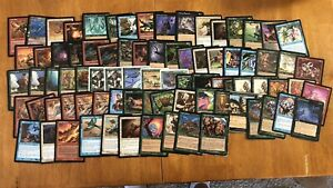 Magic The Gathering Lot Of 81 Heavily Played/ Damaged Cards