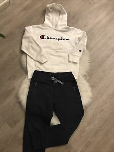 Champion, Crewcuts Youth Boys  Hoodie And Pants  in White Size Small