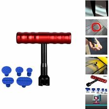 Car Body Dent Repair Hail Hand T-Bar Puller Lifter Tools Kit with 5 Glure tabs
