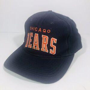 Vintage Chicago Bears Starter NFL Snapback Hat Pro Line Adjustable Cap 100% Wool