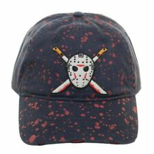 FRIDAY THE 13TH - JASON VOORHEES HOCKEY MASK MACHETE BLOOD STRAPBACK CAP
