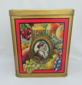 Vntg DiCamillo Biscotti Harvest Lithographed Cookie Tin Box Outstanding Graphics