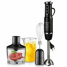 4-in-1 Stainless Hand Stick Blender Mixer Vegetable Chopper Whisk Smoothie Cup