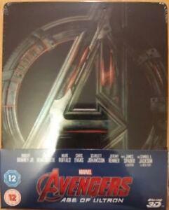 Marvel Avengers Age of Ultron 3D Blu-ray UK Steelbook - Disney - New & Sealed