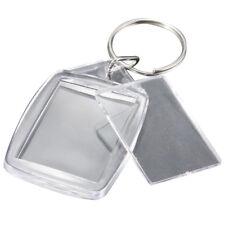 5x Clear Acrylic Blank Keyrings Insert Passport Photo Keychain Keyfob H4Y7 K3X2