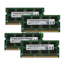 Micron 32GB KIT 4X 8GB PC3L-14900S DDR3-1866MHZ 1.35v SO-DIMM Laptop Memory Ram
