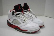 Nike Air Jordan V 5 Retro White/Red/Black 2013 Release Shoes 136027-120 SZ 10.5