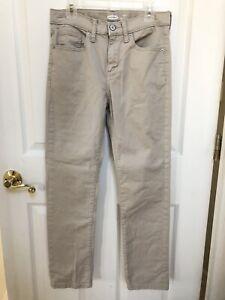 Boy's Old Navy Tan Khaki Twill Karate Slim Pants Jeans Size 12