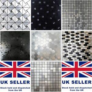 Luxury Self-adhesive Mosaic Aluminium Tiles Stickers Kitchen Feature Decorative