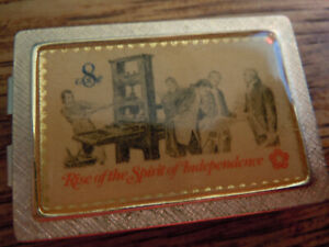 """"""" ANSON """" 8 CENT STAMP --  MONEY CLIP  -- ( RISE OF THE SPIRIT OF INDEPENDENCE )"""