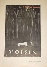 PUBLICITE AUTOMOBILE VOISIN SPORT VILLE TOURISME 8 ET 18 CV DE 1924 FRENCH AD
