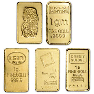 6 X GOLD BULLION TIMES 6 PURE 24K GOLD BARS D22cSHIPS FREE IF YOU BUY 2 OR MORE