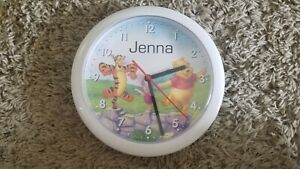 Clock Winnie The Pooh and Friends with Name  Jenna