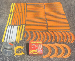 🔥VINTAGE 1967-69 HOT WHEELS RED LINES LOT SETS TRACK Curves W/ Scorcher Chamber