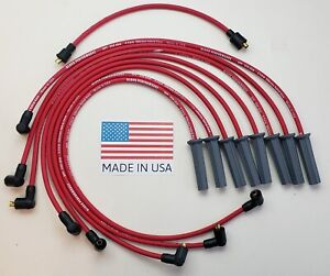 FORD 351C 351M 400M 429 460 8.5mm SPIRAL CORE RED SPARK PLUG WIRES MADE IN USA