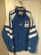Vintage NFL Indianapolis Colts Winter Starter Puffer Zipup Jacket Coat XXL
