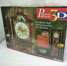 Puzz 3D Grandfather Clock 777 Pieces With A Real Working Clock New Sealed Box