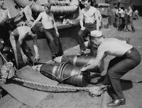 """WW2 WWII Photo USS New Mexico BB-30 14"""" Ammunition US Navy World War Two / 7213"""