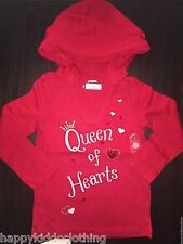 Gymboree Valentine's Day Red Shirt Top Kids Size 3 Queen of Hearts NEW tags