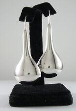 """925 sterling silver mega jumbo size teardrop earrings 2 1/2"""" high"""