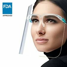 5 Pack Face Shield Full Face Protector Reusable Anti fog Great Over Glasses